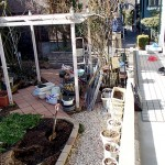 施工前のお庭