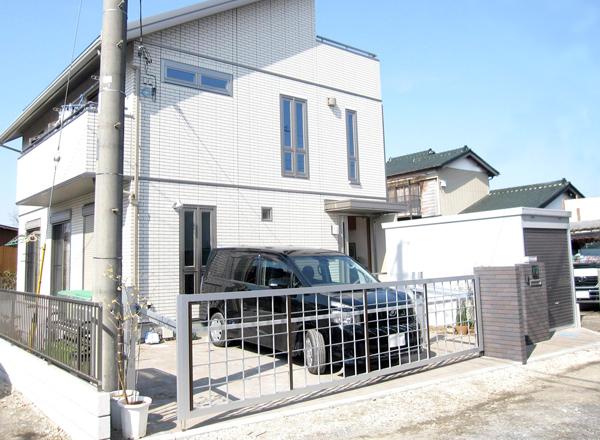 バイク車庫とエクステリア~埼玉県白岡市 K様邸