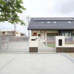 門扉:三協 グランクロスとカーゲート ラビーネ4型、宅配ボックス:LIXIL リンクスボックス