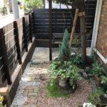 お庭へのアプローチ。